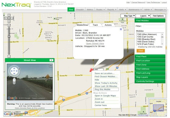 NexTraq GPS Fleet Tracking Solutions Using Google Maps