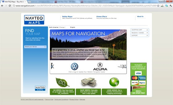 Select Your GPS Brand and Get Navteq Maps