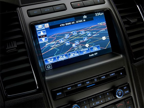 The Ford Navigation System In The Dashboard
