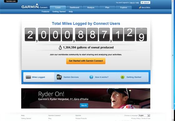 Garmin Connect Users Log 2 Billion Miles