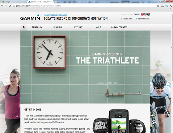The Garmin Summer Training Website