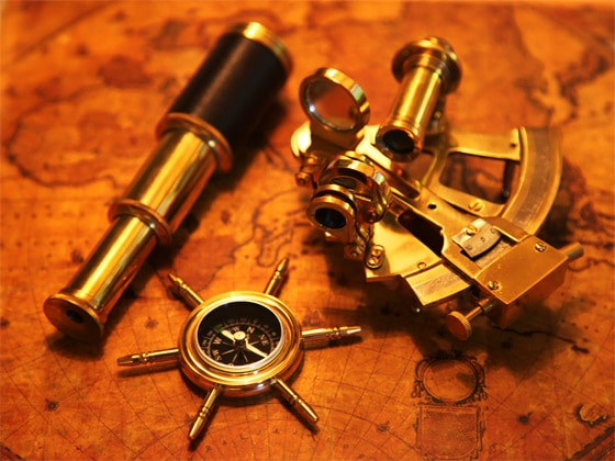 Compass and Sextant - Early GPS Navigation Systems