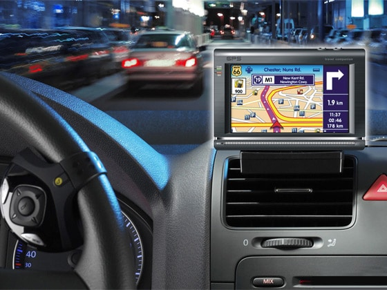 In-Car GPS and Satellite Navigation Device