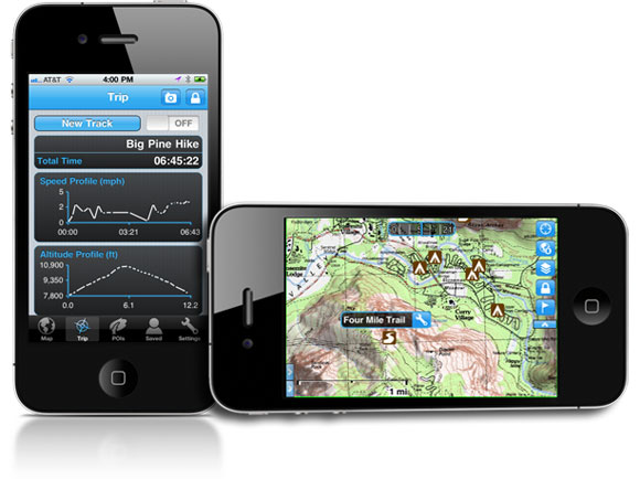 Gaia GPS TOPO Maps on the iPhone