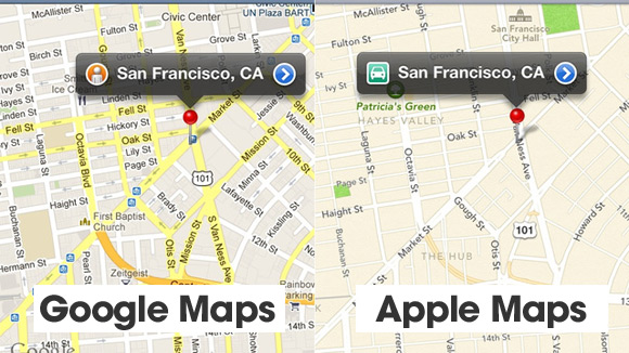 Google Maps versus Apple Maps
