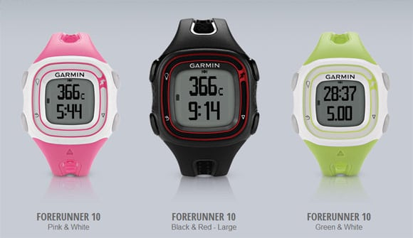 The Garmin Forerunner 10 Range of GPS Enabled Running Watches