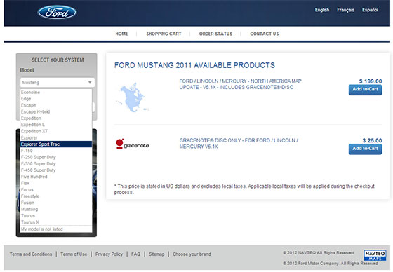 Choosing the Correct Ford Navigation System Update