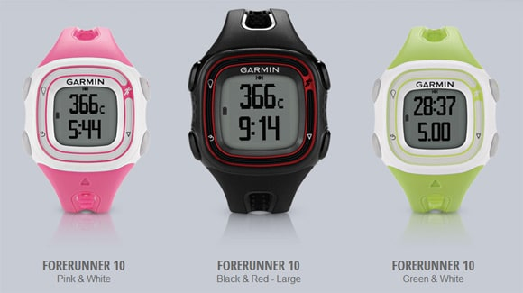 The 3 Different Colors Available on the Garmin FR10