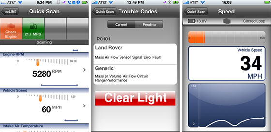 Screenshots from the GoPoint iPhone App