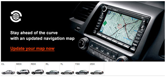 Update your Acura Navigation System