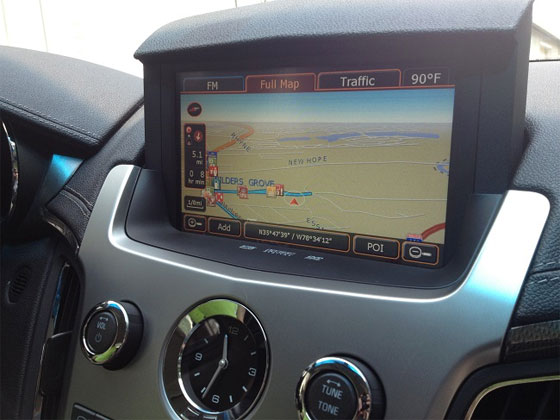 Update Cadillac CTS GPS Maps System Software